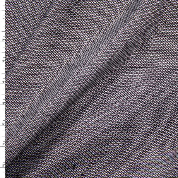 Grey Diagonal Weave Suiting Fabric By The Yard