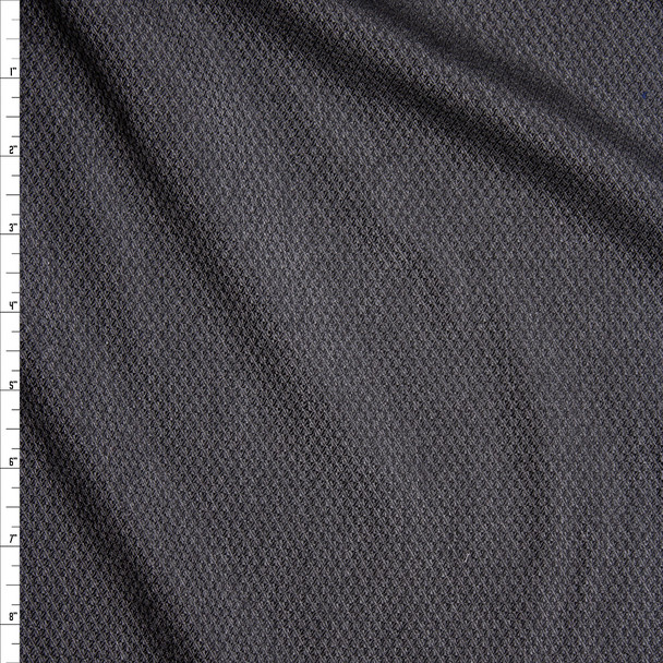 Charcoal Textured Suiting Fabric By The Yard