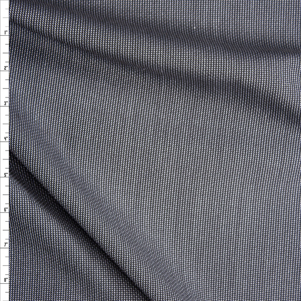 Grey and Black Vertical Stripe Suiting Fabric By The Yard