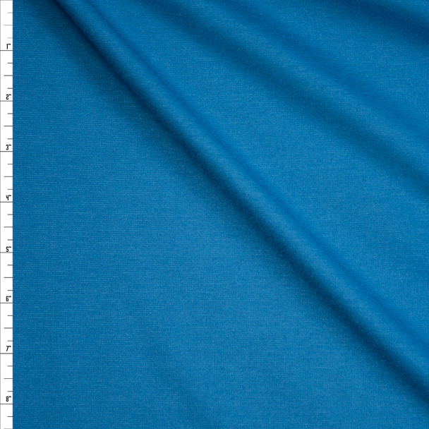 Ocean Blue Midweight Ponte De Roma Fabric By The Yard