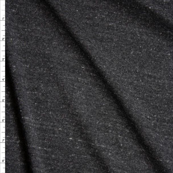 Charcoal Grey Midweight Micro Rib Knit Fabric By The Yard