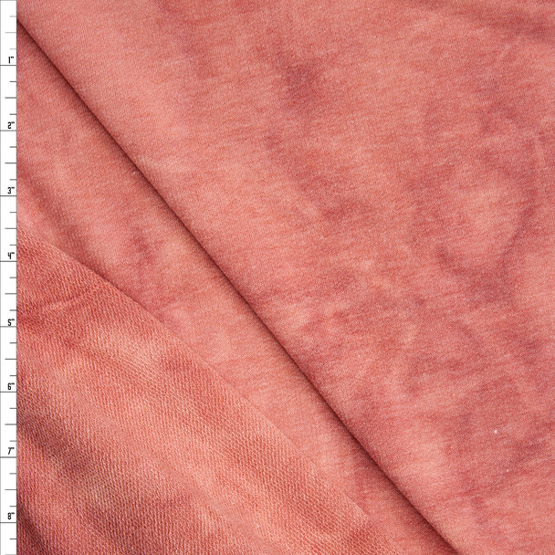 Pink Tie Dye Soft Rayon French Terry Fabric By The Yard