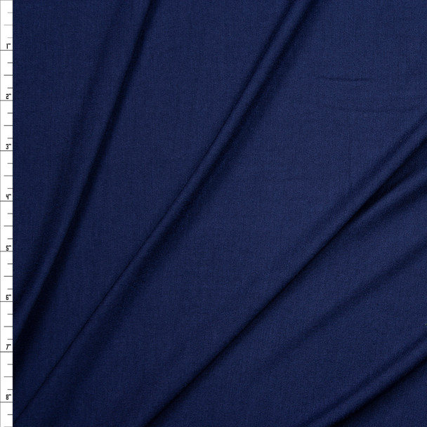 Navy Designer Rayon Jersey Knit Fabric By The Yard