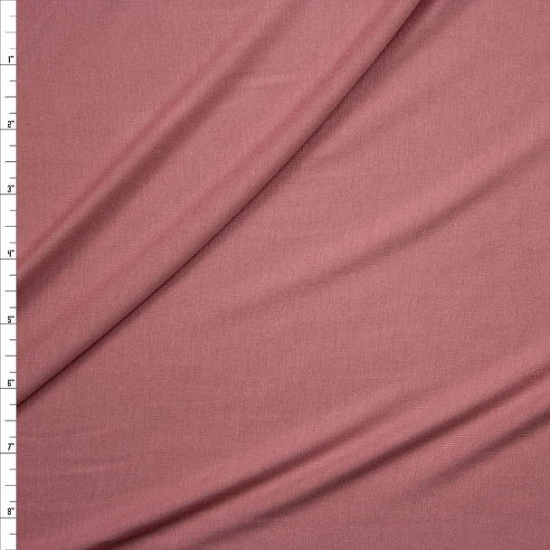 Dusty Pink Designer Rayon Jersey Knit Fabric By The Yard