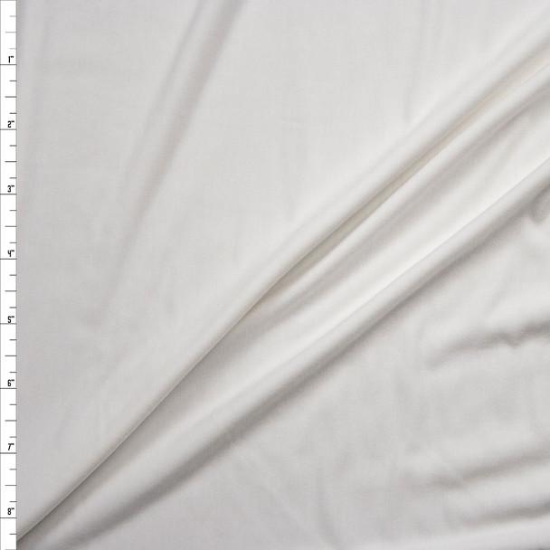 White Closeout Rayon Jersey Knit Fabric By The Yard