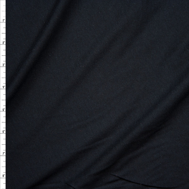 Black Closeout Cotton Jersey Knit Fabric By The Yard