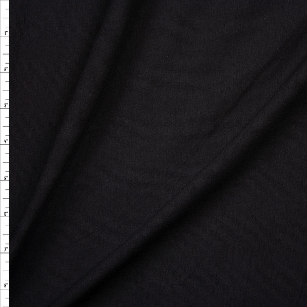 Black Stretch Closeout Cotton Jersey Knit Fabric By The Yard