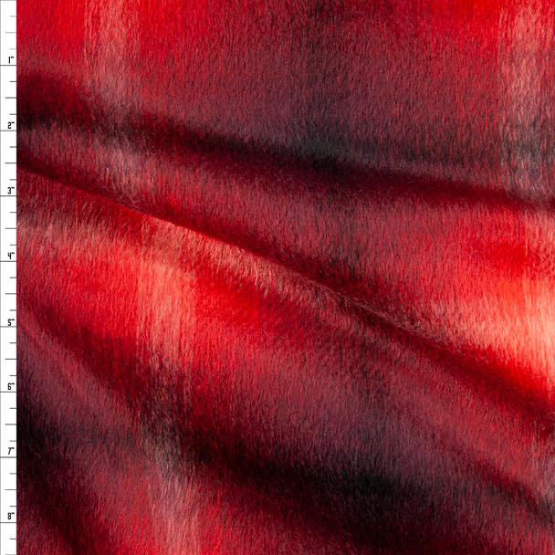 Red, Black, and White Plaid Designer Wool Blend Coating Fabric By The Yard