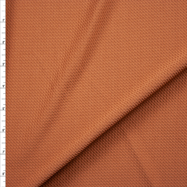 Solid Mocha Bullet Textured Liverpool Knit Fabric By The Yard