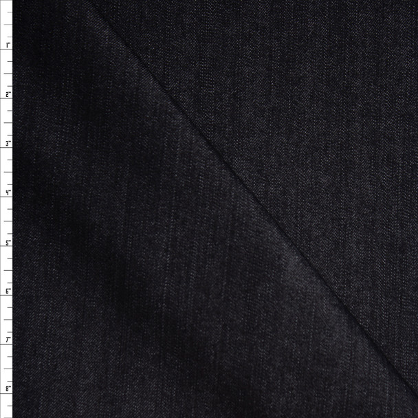 Black Designer 12oz Denim Fabric By The Yard