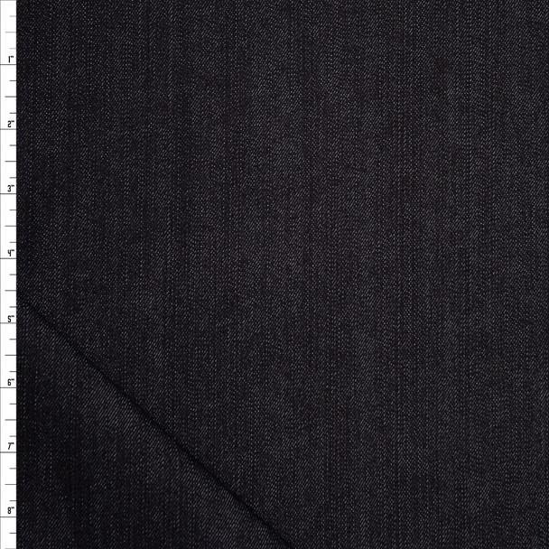 Black Designer 11oz Stretch Denim Fabric By The Yard