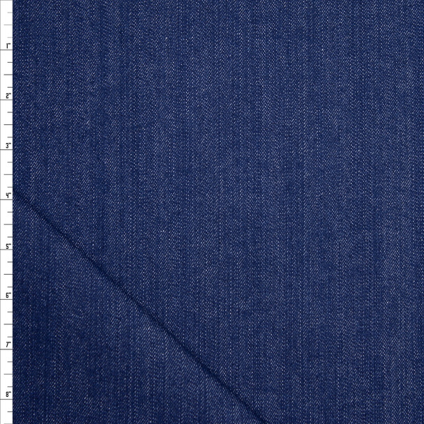 Blue Designer 11oz Stretch Denim Fabric By The Yard