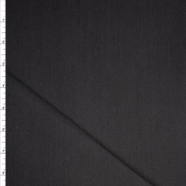 Solid Black Designer 9oz Stretch Denim Fabric By The Yard