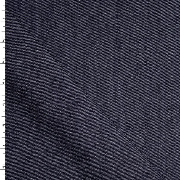 Dark Blue Designer 9oz Stretch Denim Fabric By The Yard