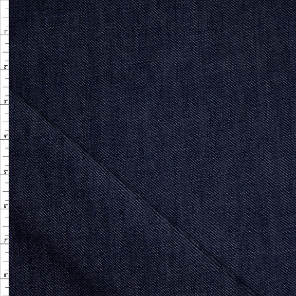 Indigo Blue Designer 9oz Stretch Denim Fabric By The Yard