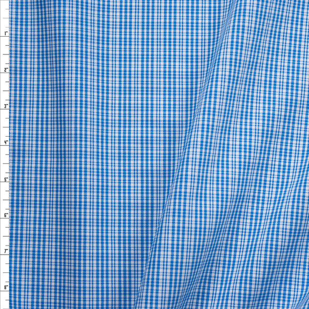 Blue and White Plaid Midweight Cotton Poplin from 'Brooks Brothers' Fabric By The Yard