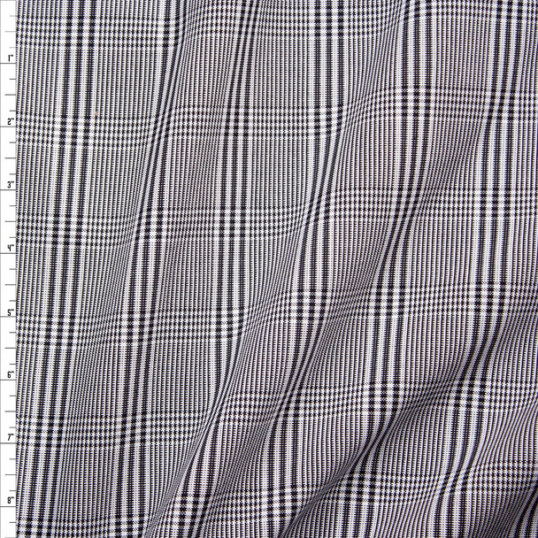 Black and White Plaid Midweight Cotton Poplin from 'Brooks Brothers' Fabric By The Yard
