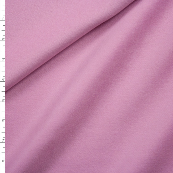 Pink Wool Melton Coating Fabric By The Yard