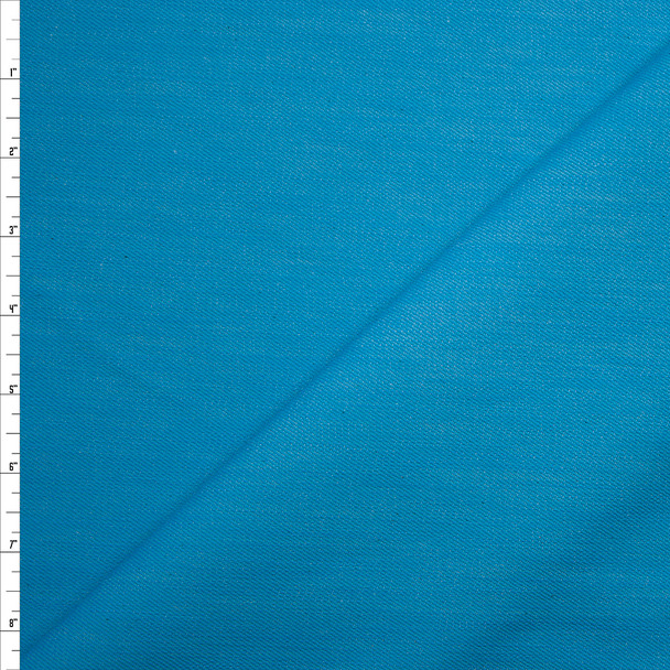 Turquoise 12oz Designer Denim Fabric By The Yard