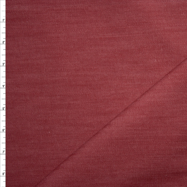 Burgundy 12oz Designer Denim Fabric By The Yard
