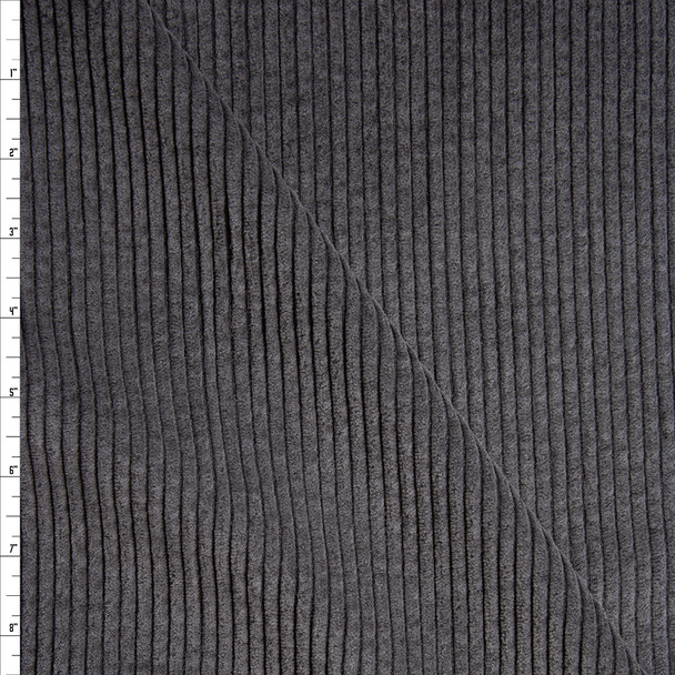 Charcoal Wide Wale Corduroy Fabric By The Yard