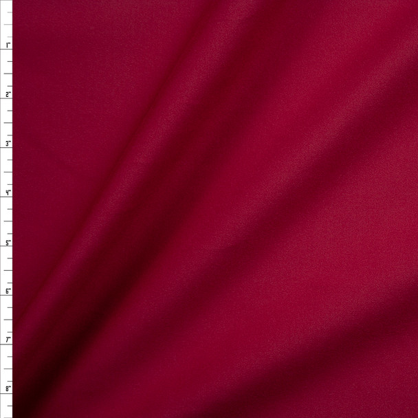Burgundy Brushed Midweight Athletic Knit Fabric By The Yard