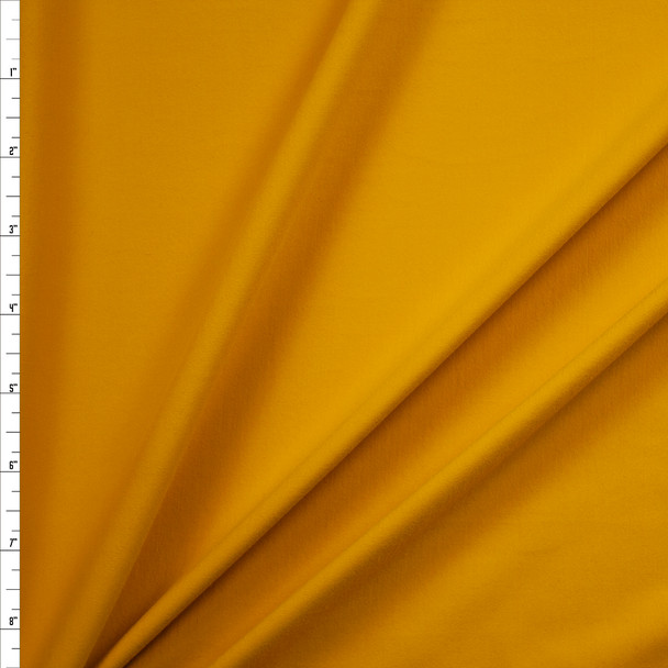 Yellow Brushed Midweight Athletic Knit Fabric By The Yard