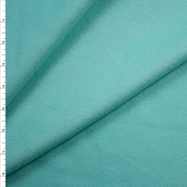 Mint Brushed Herringbone Designer Wool Coating Fabric By The Yard