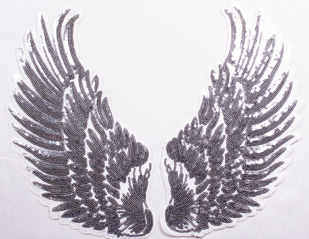 Silver Wings Iron-on Appliqué Fabric By The Yard