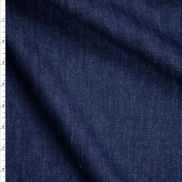 Indigo Washed Designer Stretch Denim Fabric By The Yard