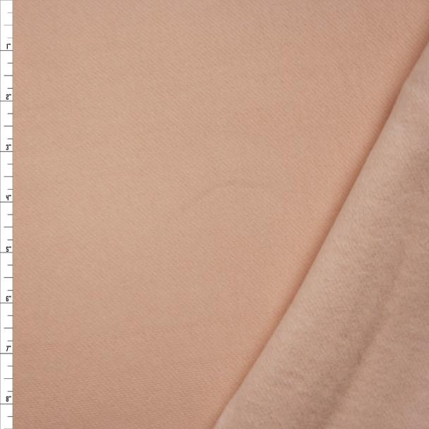 Peach Heavy Cotton Sweatshirt Fleece Fabric By The Yard
