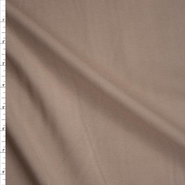 Khaki Heavyweight Stretch Ponte De Roma Fabric By The Yard