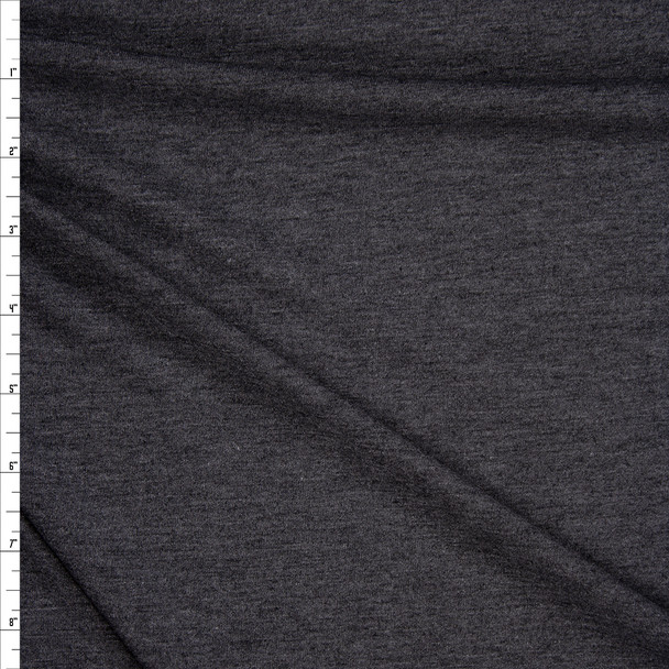 Charcoal Lightweight Poly/Rayon Jersey Knit Fabric By The Yard