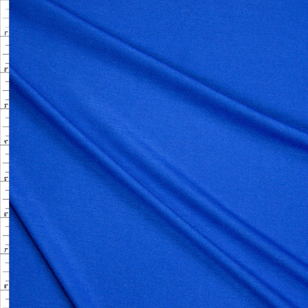 Bright Blue Lightweight Rayon Jersey Knit Fabric By The Yard