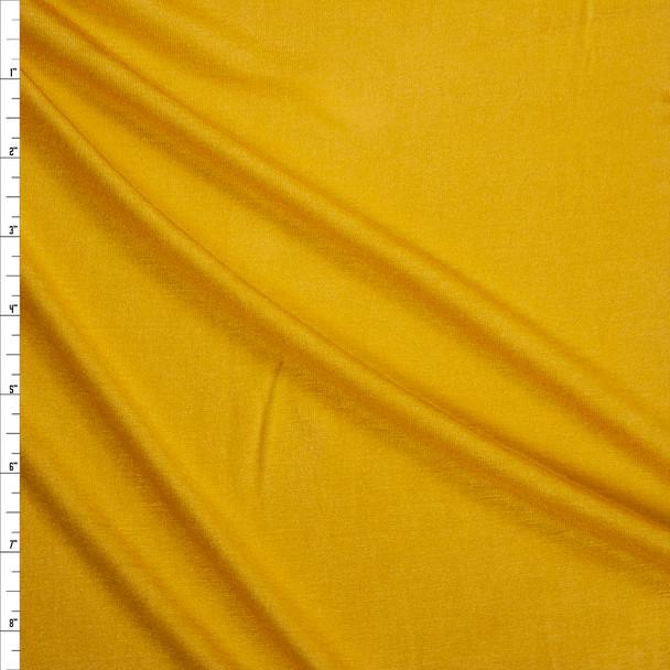Light Mustard Lightweight Rayon Jersey Knit Fabric By The Yard