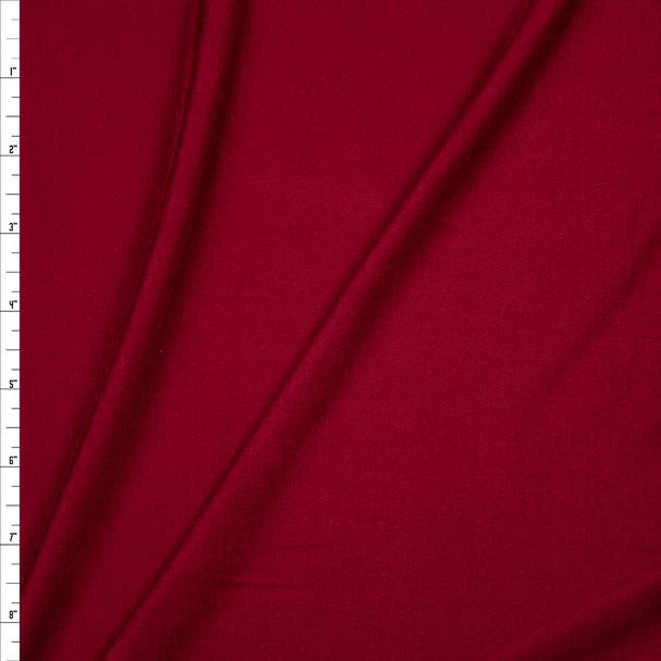 Burgundy Lightweight Rayon Jersey Knit Fabric By The Yard