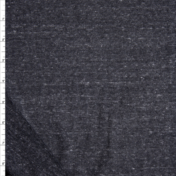 Charcoal Heather Soft Extra Wide French Terry Fabric By The Yard