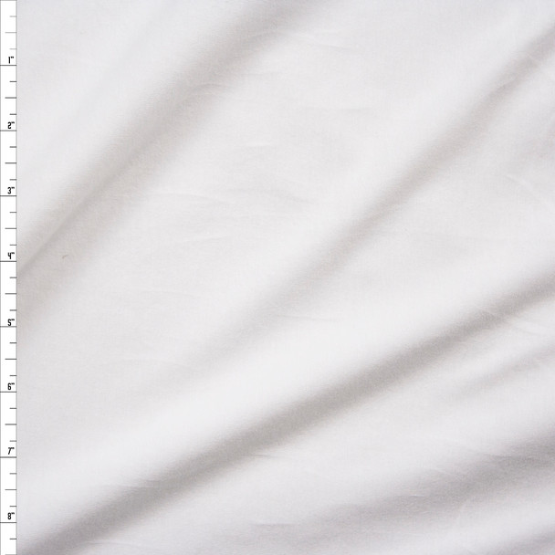 White 4-way Stretch Midweight Cotton/Spandex Jersey Knit Fabric By The Yard