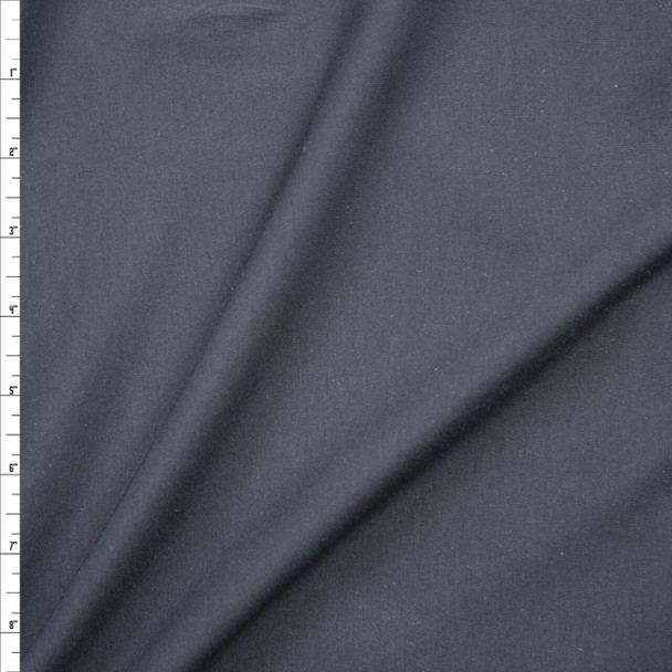 Charcoal Grey 4-way Stretch Midweight Cotton/Spandex Jersey Knit Fabric By The Yard