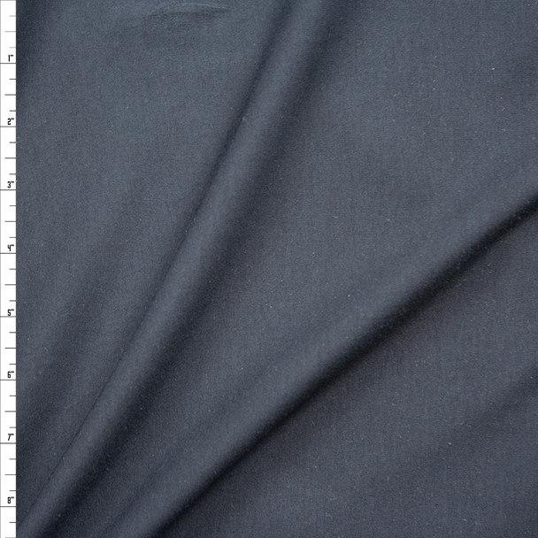 Black 4-way Stretch Midweight Cotton/Spandex Jersey Knit Fabric By The Yard
