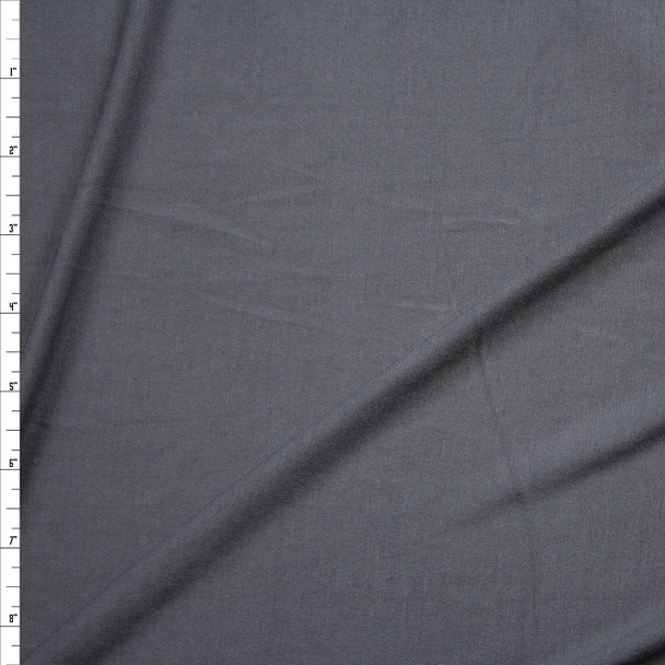 Charcoal Grey Midweight 4-way Stretch Rayon/Spandex Jersey Knit Fabric By The Yard
