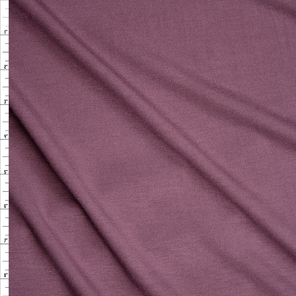 Dusty Plum Stretch Modal French Terry Fabric By The Yard