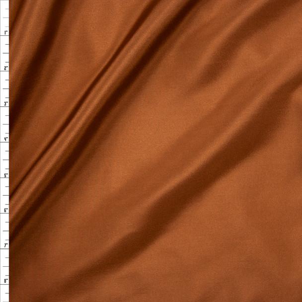 Copper Designer Silk Habotai Fabric By The Yard