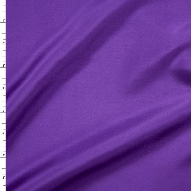 Purple Designer Silk Habotai Fabric By The Yard