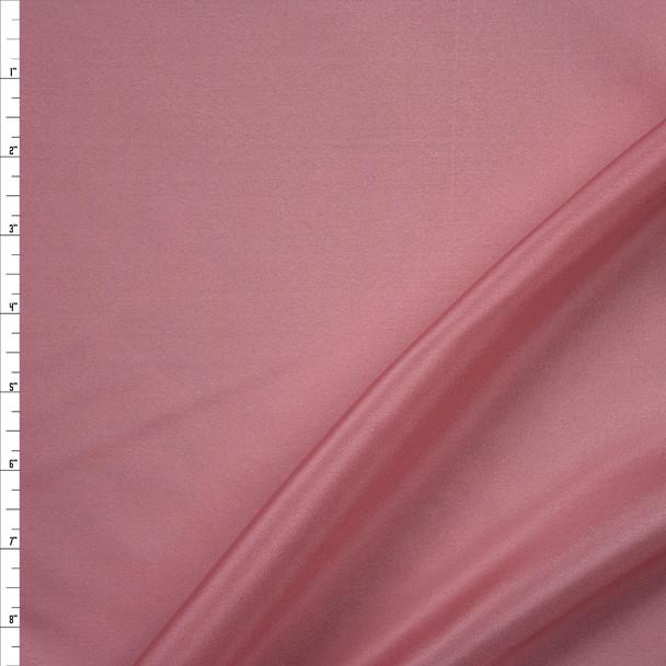 Rose Designer Silk Habotai Fabric By The Yard