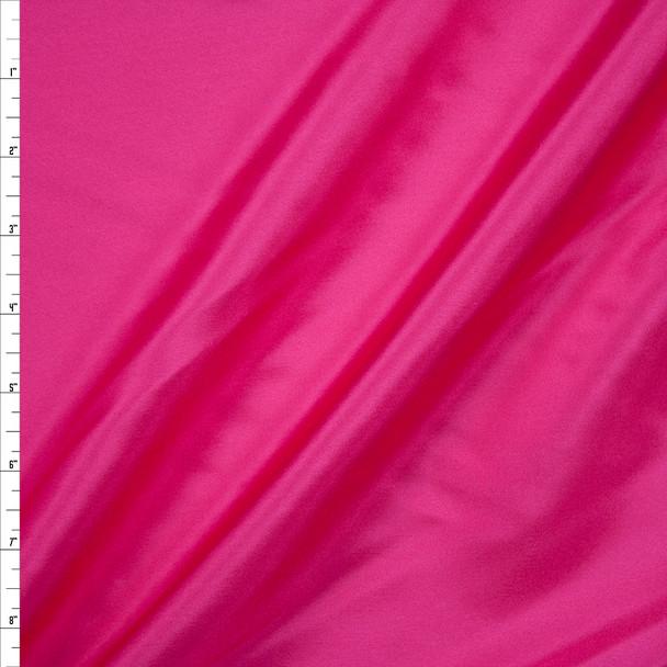 Hot Pink Designer Silk Habotai Fabric By The Yard
