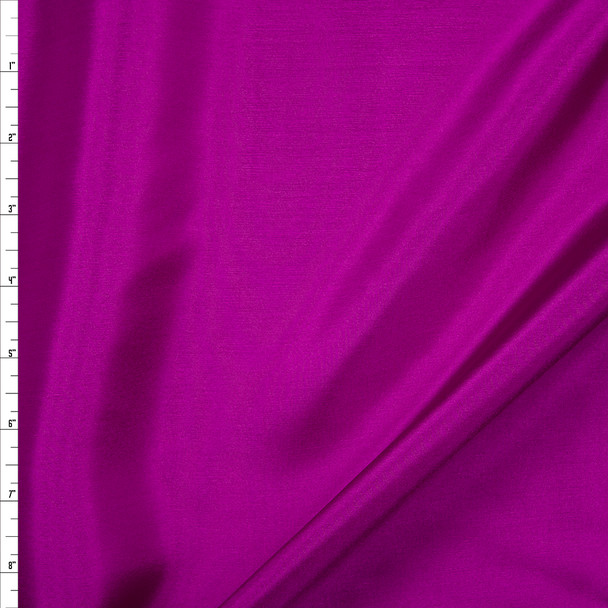 Fucshia Designer Silk Habotai Fabric By The Yard