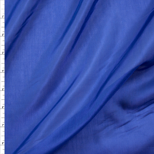 Blue Cotton/Silk Voile Fabric By The Yard