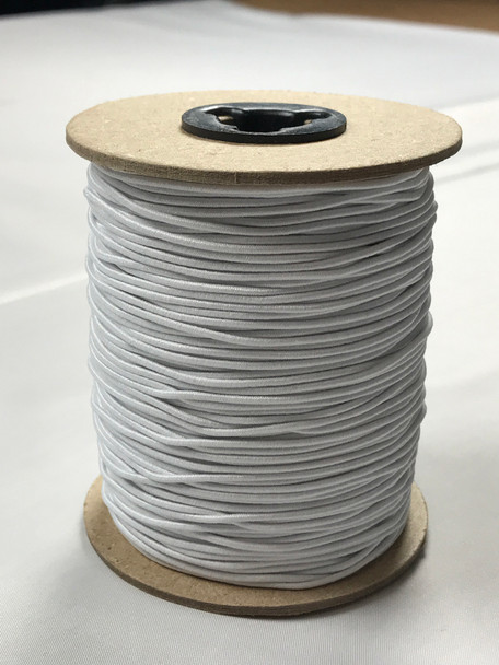 "White 1/16"" Elastic Cord Roll (144y)"