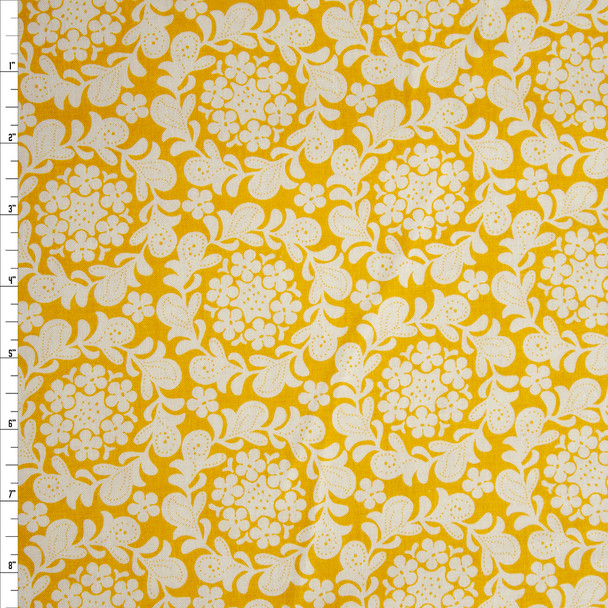 Petit Henna Garden Mustard by Michael Miller Quilter's Cotton Print Fabric By The Yard